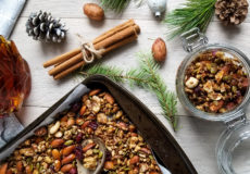 Gingerbread, granola, grain-less, nuts, seeds, christmas