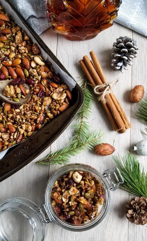 Granola, Grain-Free, Gluten-Free, Nuts, Gingerbread