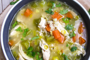 Cold-Busting, Chicken noodle soup, healthy, gluten-free, bone broth