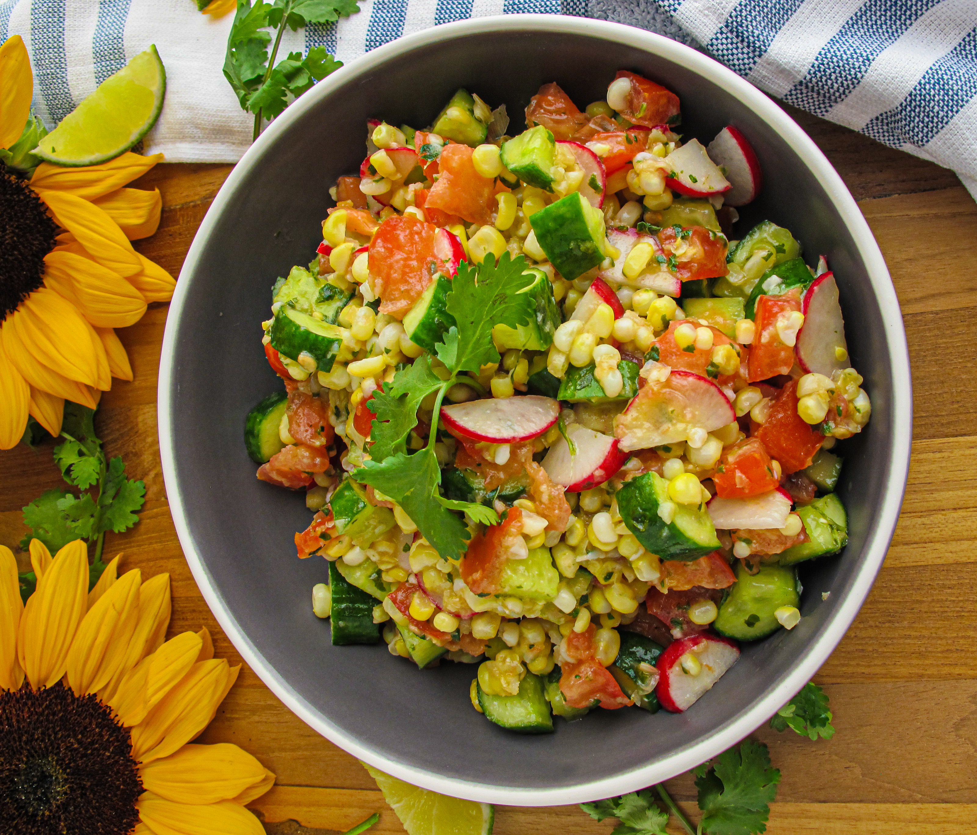 Ginger Cilantro Lime Corn Salad