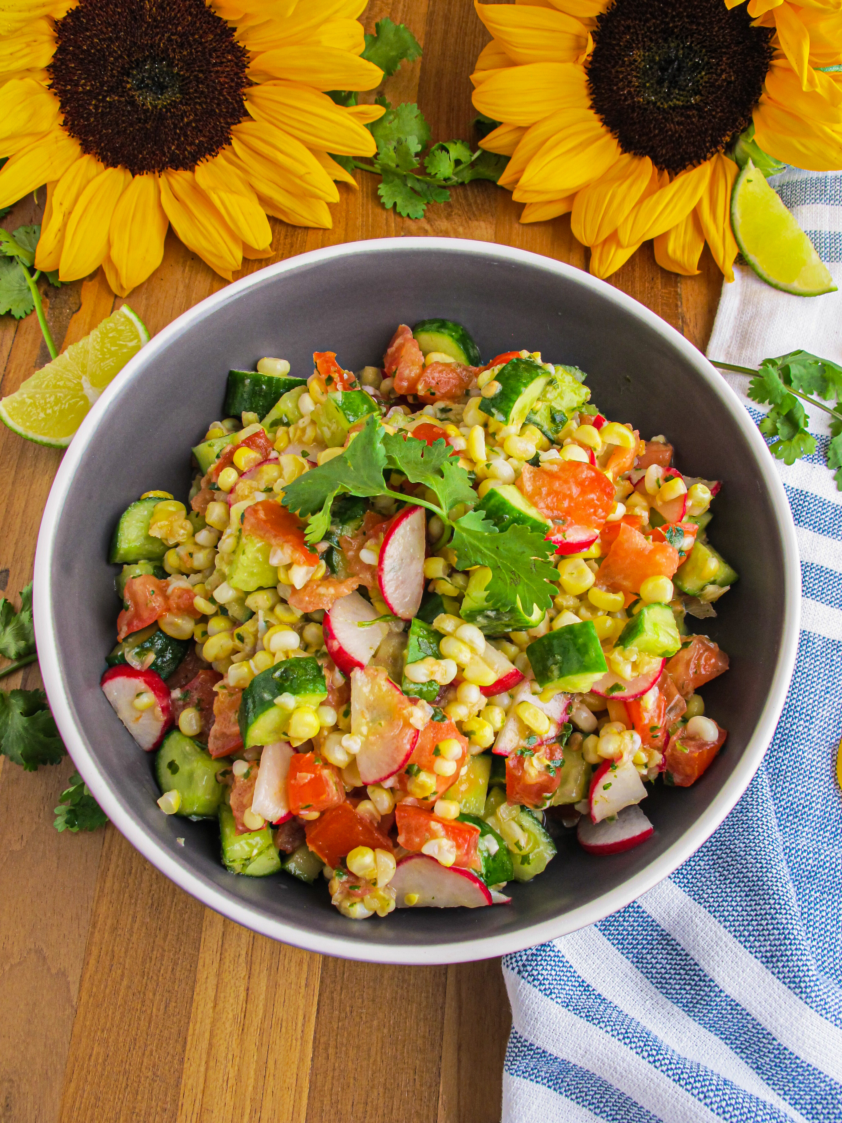 Corn Salad with Ginger Cilantro Lime Dressing