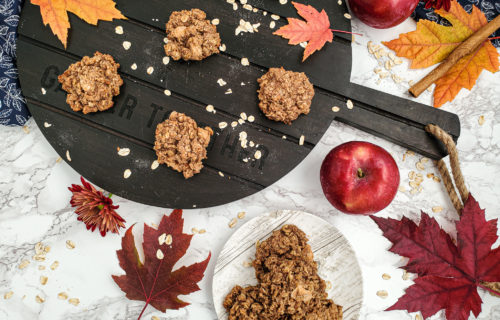 Apple Pie Oatmeal Cookies, gluten free, vegan