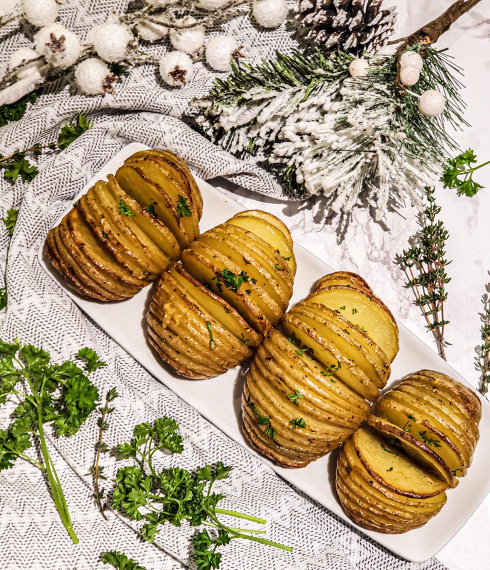 Lemon Thyme Hasselback Potatoes