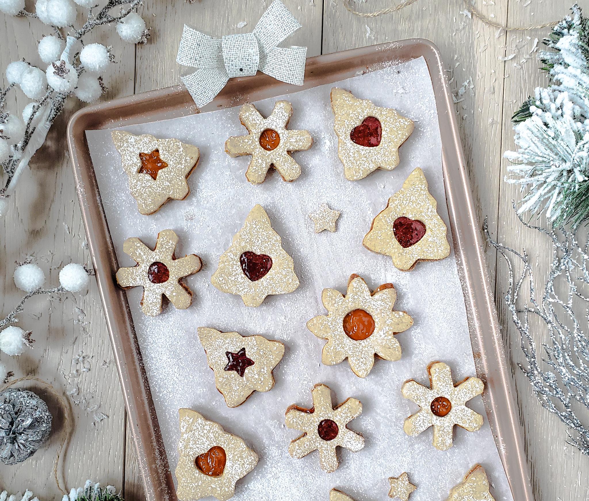 Gluten-Free Vegan Linzer Cookies