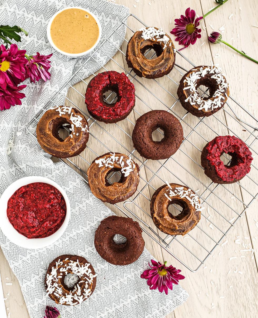 Healthy Chocolate Chia Breakfast Donuts