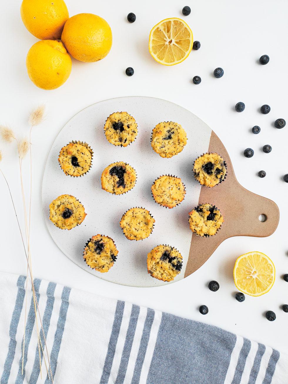 Lemon Poppyseed & Blueberry Mini Muffins
