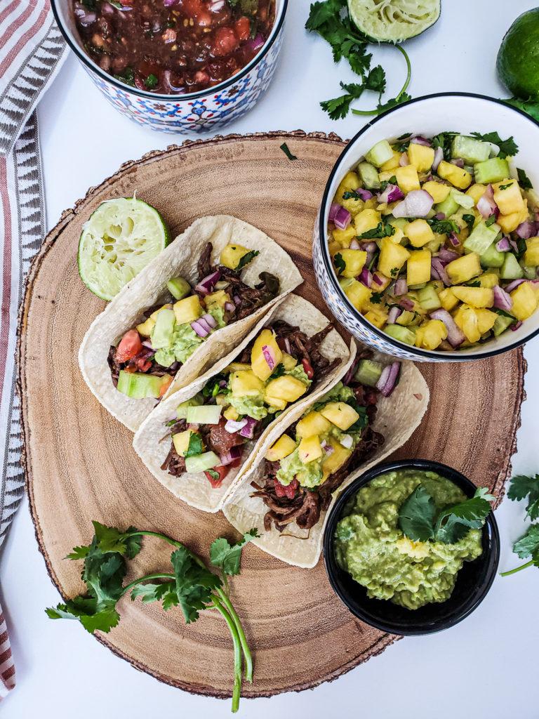 Slow Cooker Beef Carnitas, Taco