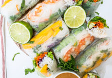 Mango and Shrimp Fresh Spring Rolls