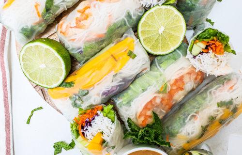 Mango and Shrimp Fresh Spring Rolls