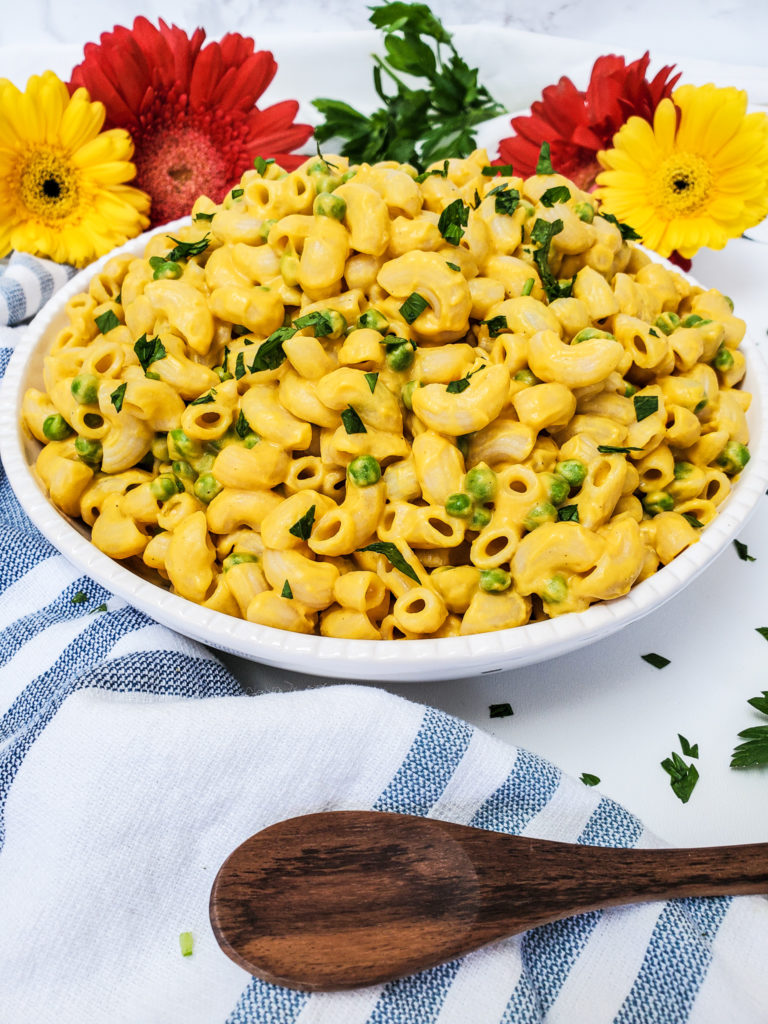 Butternut Squash Mac and Peas