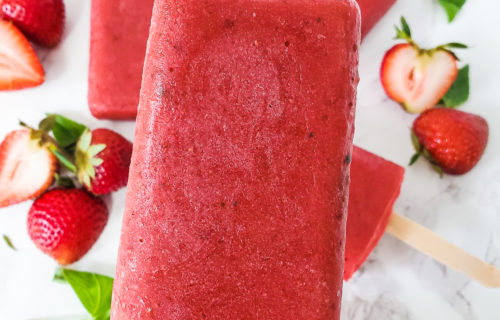 Strawberry Basil Popsicle