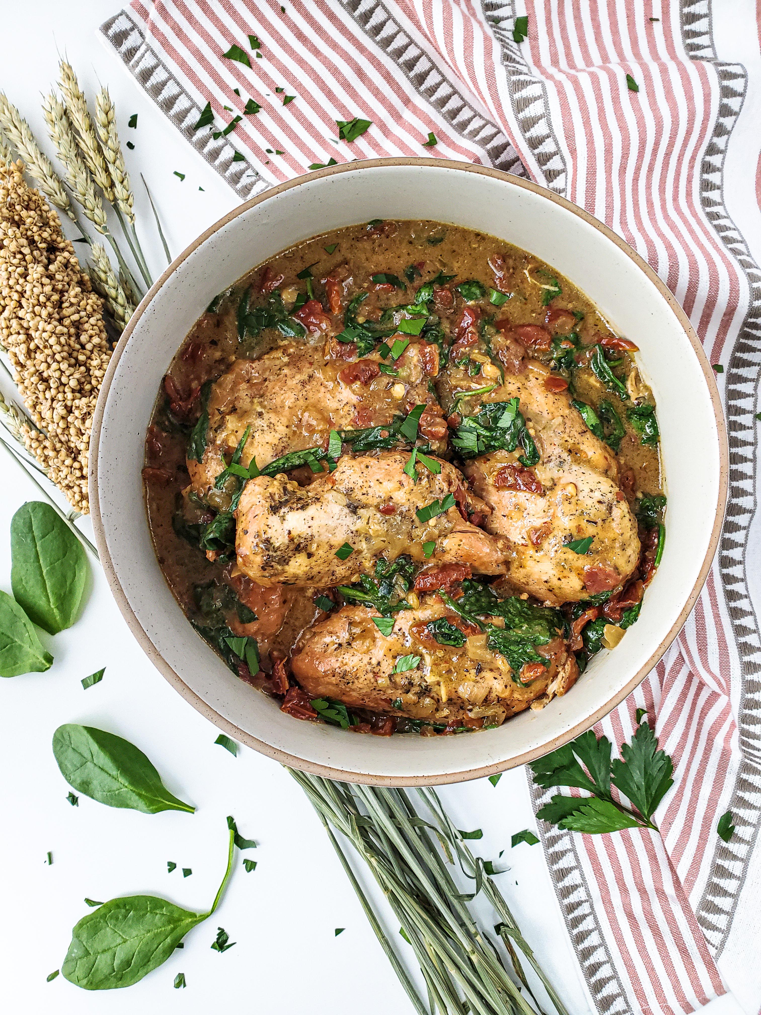Slow-Cooker Dijon Tuscan Chicken