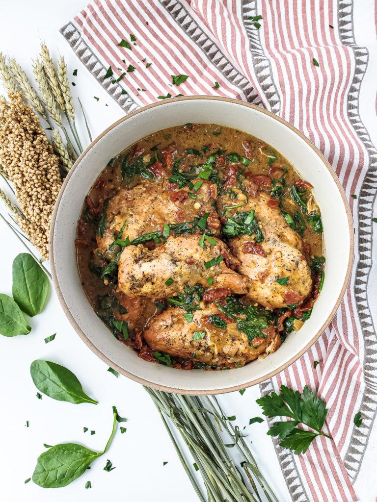 Slow Cooker Dijon Tuscan Chicken