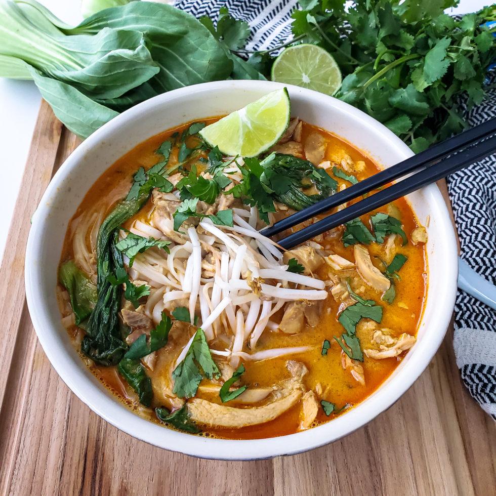 Peanut Butter Curry Laksa Soup