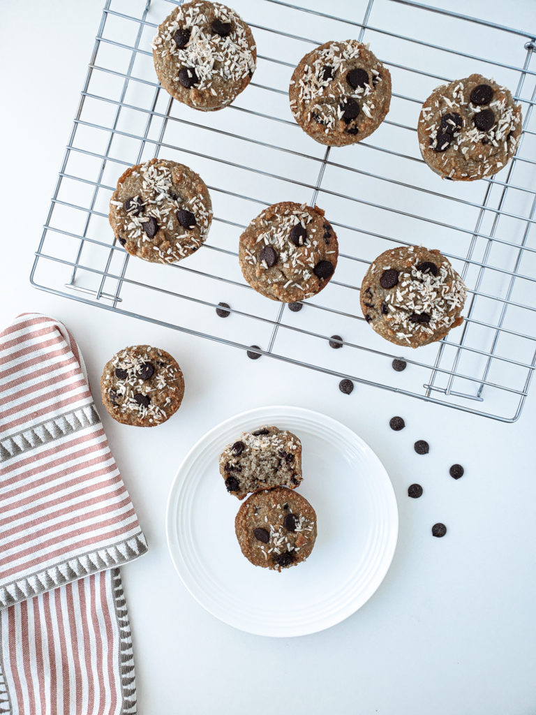 COCONUT ALMOND CHOCOLATE CHIP MUFFINS