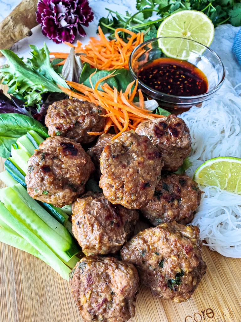 Vietnamese Style Turkey Meatballs